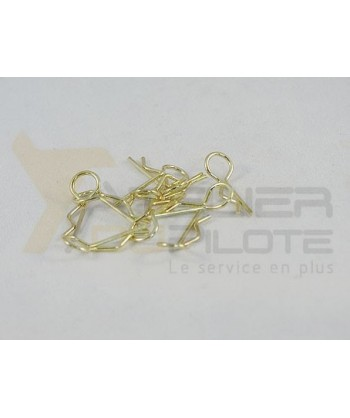 Clips carrosserie 1/10 or 45° (10 pces)
