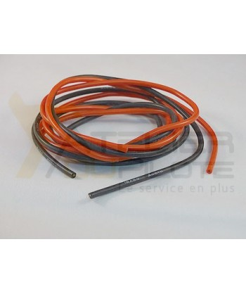 Cable silicone 18AWG 300 brins 1m rouge + 1m noir